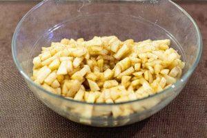 dejar enfriarse la manzana para galletas rellenas