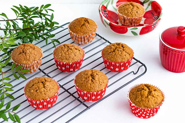 muffins de zanahoria naranja y jengibre confitados