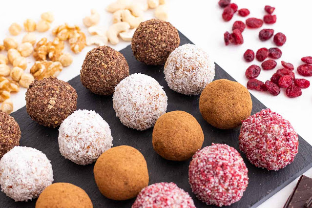 receta de bombones saludables de frutos secos