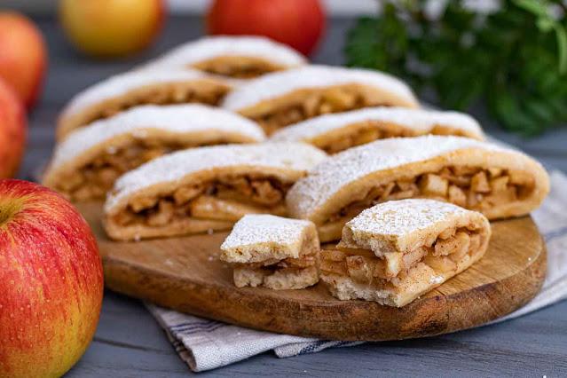 receta de galletas rellenas de manzana y almendras