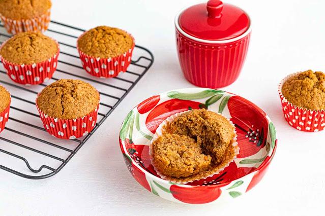receta de muffins de zanahoria con naranja y jengibre