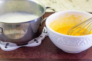 calentar leche para pastel de mousse