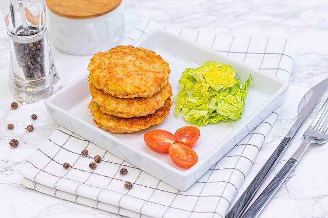 hamburguesas de tronquitos de surimi y queso