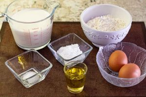 preparar ingredientes para masa de crepes