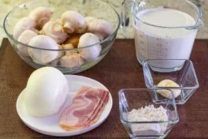 preparar ingredientes para relleno de setas para crepes