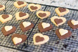 enfriar galletas de vainilla y chocolate