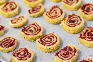 hornear galletas caracola con arandanos y especias