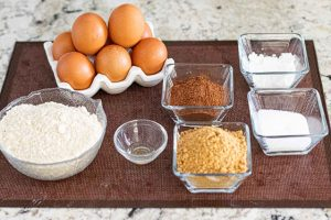 pastel con cerezas preprar ingredientes