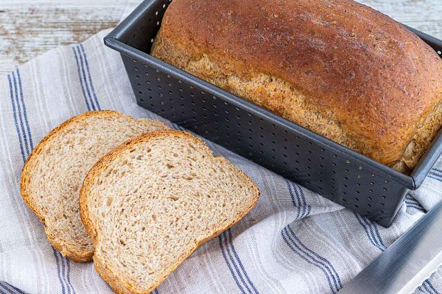 receta de pan casero con harina integral