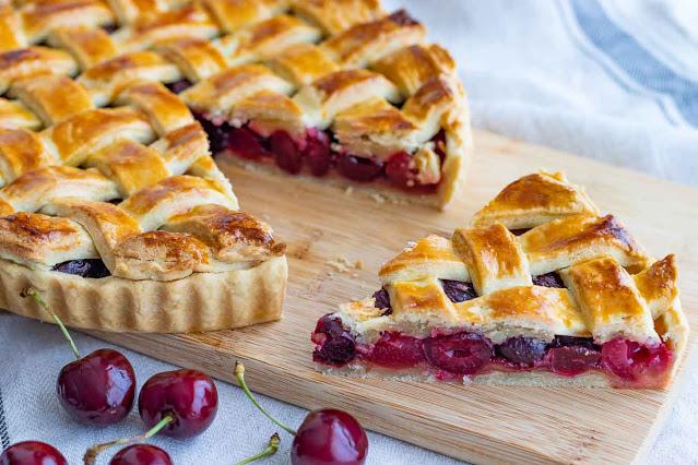 receta de tarta con cerezas